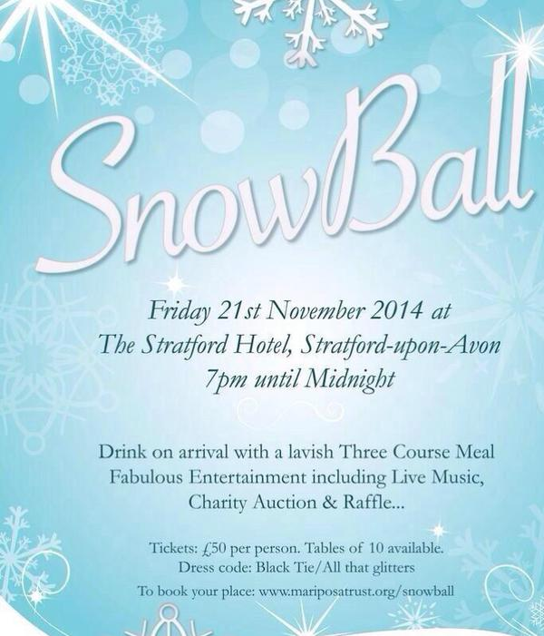 Interview with Jessica Smallwood ahead of this Novembers SNOW BALL charity event in Stratford