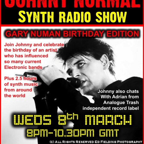 "RW084 – THE JOHNNY NORMAL ""GARY NUMAN SPECIAL"" RADIO SHOW 8.3.17"