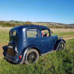 Austin Seven - Owner and in picture (Ray Grilli)